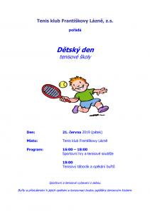 TK FL - Dětský den tenisové školy 2019